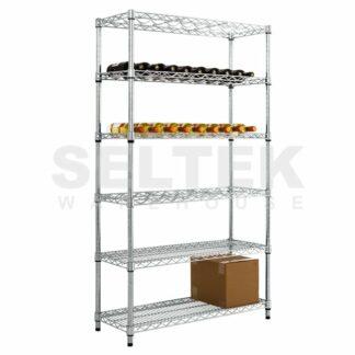 Chrome Wine Rack Shelving Plus Storage