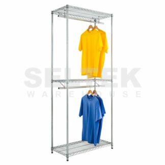Chrome Wire Double Garment Rack