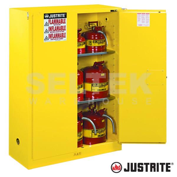 Justrite Flammables Cabinet Manual Doors 170 Ltr Jr