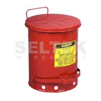 Justrite Foot Operated Oily Waste Can