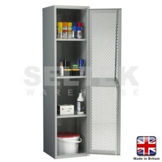 Steel Storage Cabinet With Mesh Door - 1830 x 457 x 457mm
