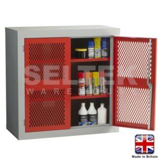 Steel Storage Cabinet With Mesh Door - 915 x 915 x 457mm