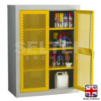 Steel Storage Cabinet With Mesh Door - 1220 x 915  x457mm