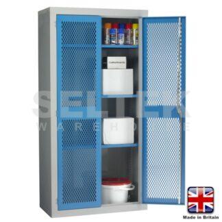 Steel Storage Cabinet With Mesh Door - 1830 x 915 x 457mm (3 Shelves)