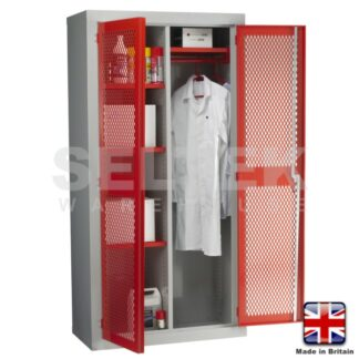 Steel Storage Cabinet With Mesh Door - 1830 x 915 x 457mm - (Centre Divider)