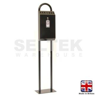 Stand Mounted Cigarette Bin - Powder Coated Steel