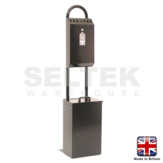 Stand Mounted Cigarette and Litter Bin - Powder Coated Steel