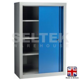 Double Sliding Door Cabinet - WxD: 1000x500mm