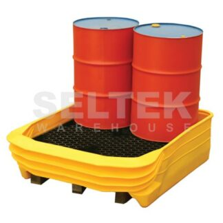 Pallet Spill Base for 4 Drums