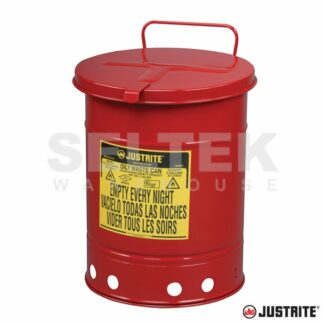 Justrite Hand Operated Oily Waste Cans
