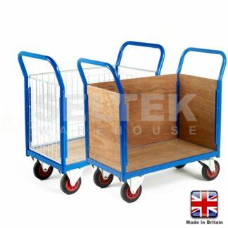 Small Deck Platform Truck - 3 Side Panels - 500Kg
