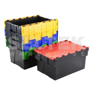Multi-Coloured Food Grade Euro containers with lids
