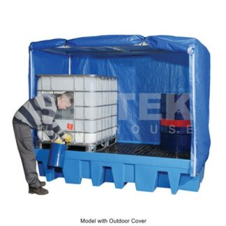 Sump Pallet for 8 Drums With Cover