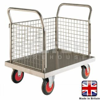 Stainless Steel Platform Truck with 3 Sides - 500Kg