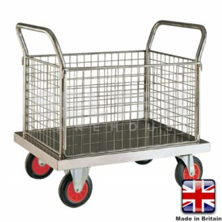 Stainless Steel Platform Truck with 4 Sides - 500Kg