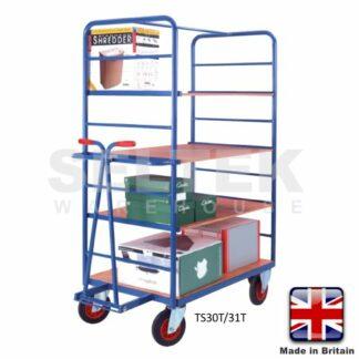 Warehouse Shelf Truck with Draw Bar - 500Kg