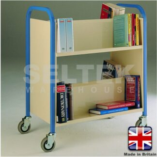 Double Sided 2 Tier Book Trolley