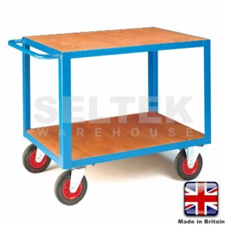 Mobile Table Trolley - Plywood Top and Bottom - 500Kg