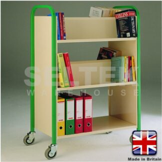 Double Sided 3 Tier Book Trolley