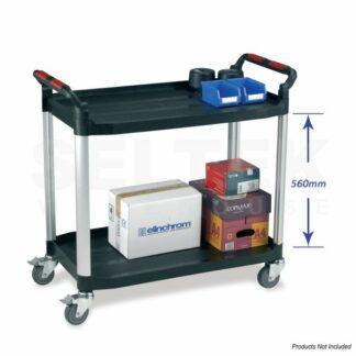 Utility Tray Trolley 2 Shelf - 100-120Kg