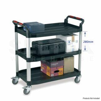 Utility Tray Trolley 3 Shelf - 150-200Kg