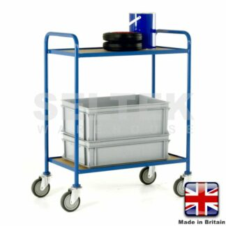 Tray Trolley - 2 Tier Fixed Plywood Shelves - 200Kg