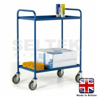 Tray Trolley - 2 Tier Removable Blue Trays - 200Kg