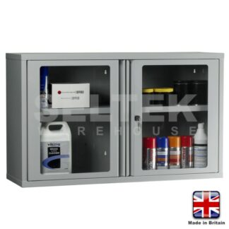 Steel Storage Cabinet - Polycarbonate Door  - 600  x1000 x 300mm