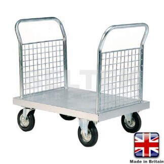Zinc Plated Platform Truck with 2 Mesh Ends - 700Kg