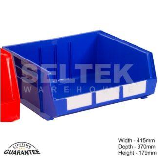 Rhino Plastic Louvre Bin - W415 x D370 x H179mm