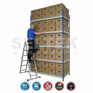 Rivet Archive Racking - 1830mm Wide -  30-100 Boxes