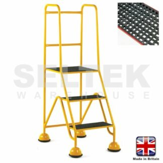 Mobile Safety Steps - GRP Treads 3 Steps