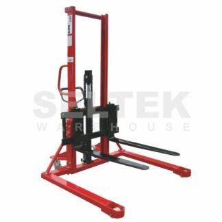 Pallet Stacker 1000Kg - Straddle Base and Adjustable Forks