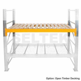 Pallet Racking Open Timber Decking