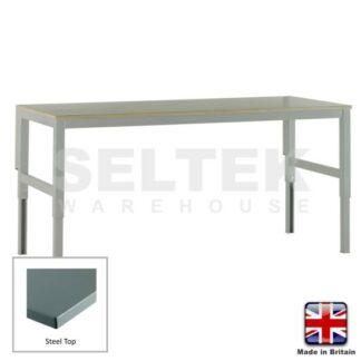 Workbench - Height Adjustable - Steel Top - 300Kg