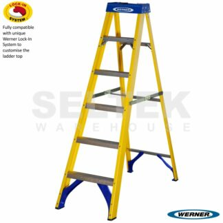 Werner Trade Fibreglass Swingback Step ladders