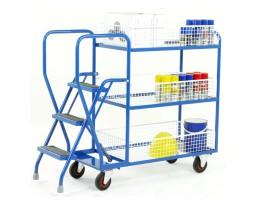 Warehouse Step Shelf Trolleys