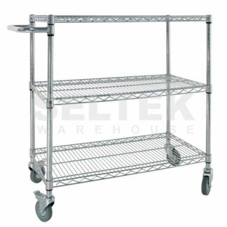 Mobile Wire Shelves - Standard With Handle