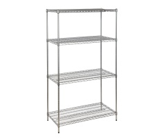 Epoxy Coated Chrome Wire Shelving